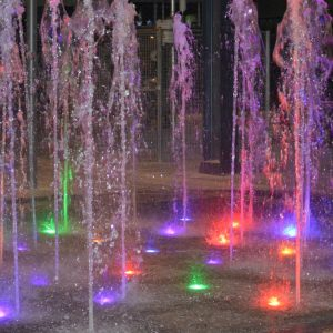 fountain lights night